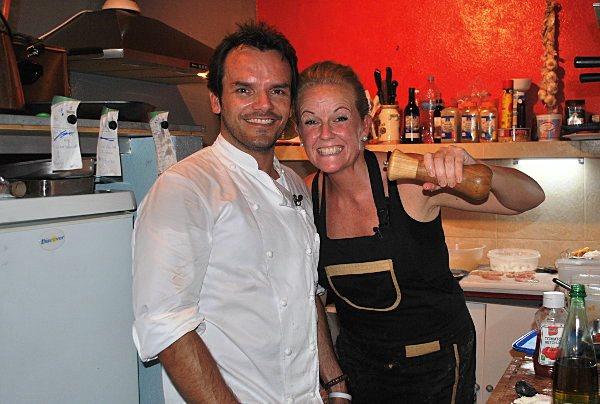 Steffen Henssler mit Jenny von der el-momento Bar
