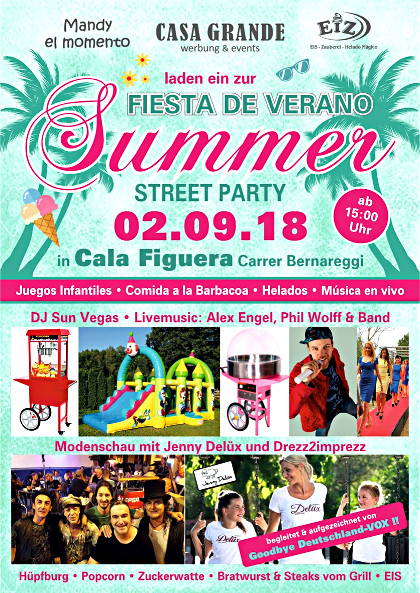 Summer StreetParty im el-momento in Cala Figuera