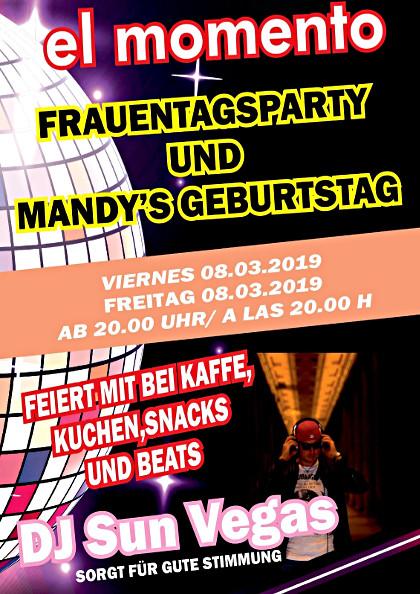 Mandys geburtstag und Frauentags-Party im el-momento in Cala Figuera