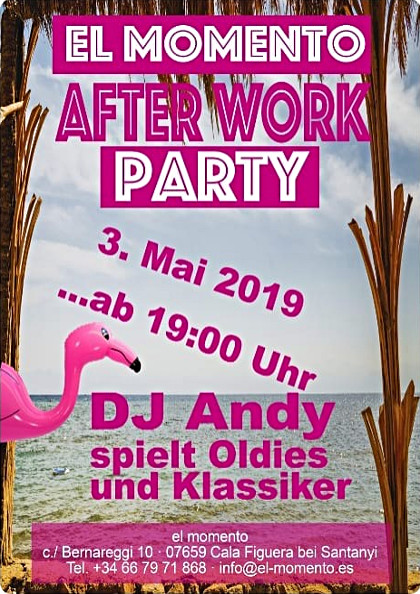 After-Work mit DJ Andy im el-momento in Cala Figuera