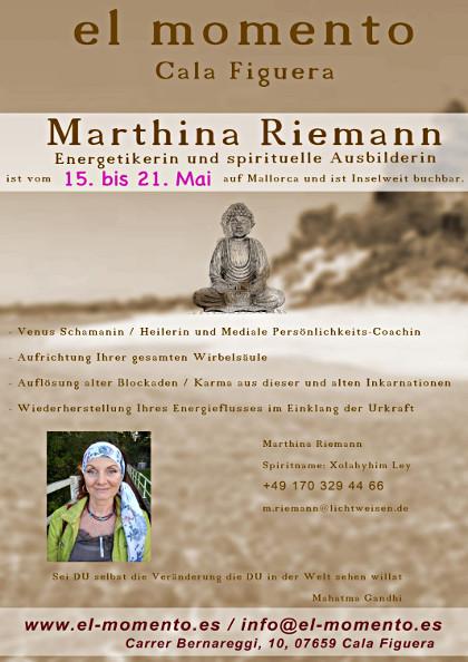 Marthina-Riemann wieder im el-momento in Cala Figuera